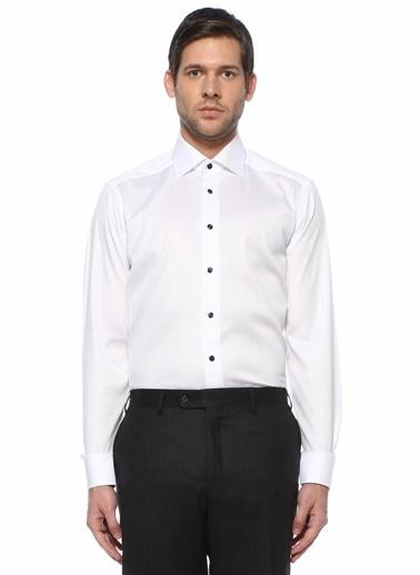 Eton Eton  Modern Yaka Gömlek 101612213 Beyaz